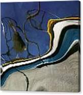 Boat Reflections At Sea Canvas Print