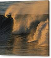Breaking Surf At Sunset In La Jolla Canvas Print