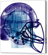 Football Helmet, X-ray Canvas Print