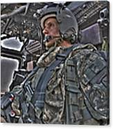 Hdr Image Of A Pilot Sitting Canvas Print