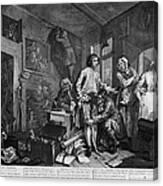 Hogarth: Rakes Progress Canvas Print