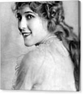 Mary Pickford, Ca. 1918 Canvas Print