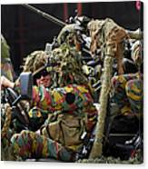 Members Of A Recce Or Scout Team Canvas Print