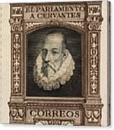 Miguel De Cervantes Canvas Print