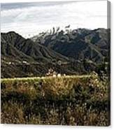 Ojai Valley With Snow Canvas Print