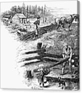 Oregon Trail Emigrants Canvas Print