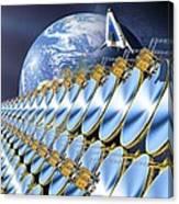 Solar Power Satellite, Artwork Canvas Print