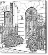 The Doors Of London Canvas Print