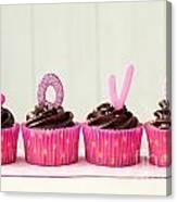 Valentine Cupcakes Canvas Print