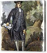 William Penn (1644-1718) Canvas Print