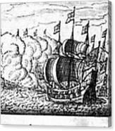 Spanish Armada, 1588 Canvas Print