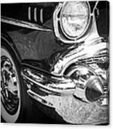 57 Chevy Black Canvas Print