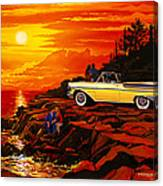 57 Merc Sunset Canvas Print