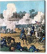 US American Civil War Art Battle of the Wilderness Real Canvas Print Virginia