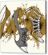 Feminine Shoes Canvas Print