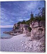 Georgian Bay Cliffs At Sunset Canvas Print