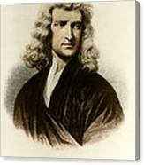 Isaac Newton, English Polymath Canvas Print
