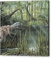 Jurassic Life, Artwork Canvas Print