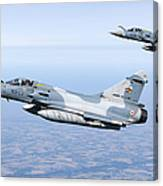 Mirage 2000c Of The French Air Force Canvas Print