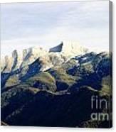 Ojai Valley With Snow Canvas Print
