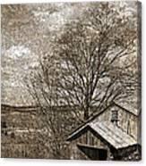 Rustic Hillside Barn Canvas Print