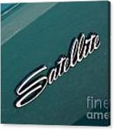 65 Plymouth Satellite Logo-8502 Canvas Print