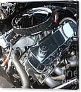 67 Black Camaro Ss 396 Engine-8033 Canvas Print