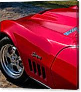 69 Red Detail Canvas Print