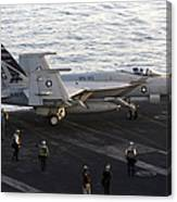 An Fa-18e Super Hornet During Flight Canvas Print