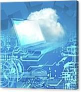 Cloud Computing, Conceptual Artwork Canvas Print