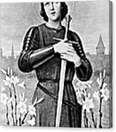 Joan Of Arc, French National Heroine Canvas Print