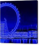 London Eye Art Canvas Print