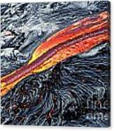 River Of Molten Lava Canvas Print