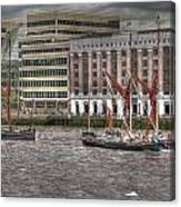 Thames Barges Tower Bridge 2012 Canvas Print