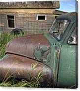 Vintage Farm Trucks Canvas Print