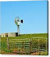 Windmill Water Pump Canvas Print