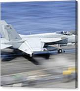 An Fa-18e Super Hornet Launches Canvas Print