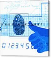 Fingerprint Scanning Canvas Print