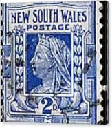 old Australian postage stamp Canvas Print