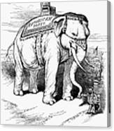 Presidential Campaign, 1884 Canvas Print
