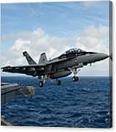 An Fa-18f Super Hornet Launches Canvas Print
