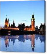 Big Ben And The Houses Of Parliament  Canvas Print