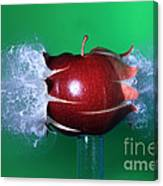 Bullet Hitting An Apple Canvas Print