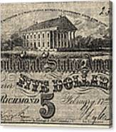 Confederate Banknote Canvas Print
