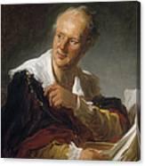 Denis Diderot (1713-1784) Canvas Print