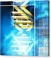 Dna Molecule Canvas Print