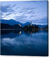 Dusk Over Lake Bled Canvas Print