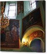 Inside The Old Russian Orthodox Church Canvas Print