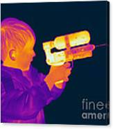 Thermogram Of A Boy Canvas Print
