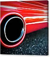 94 Vette Side Pipes Canvas Print